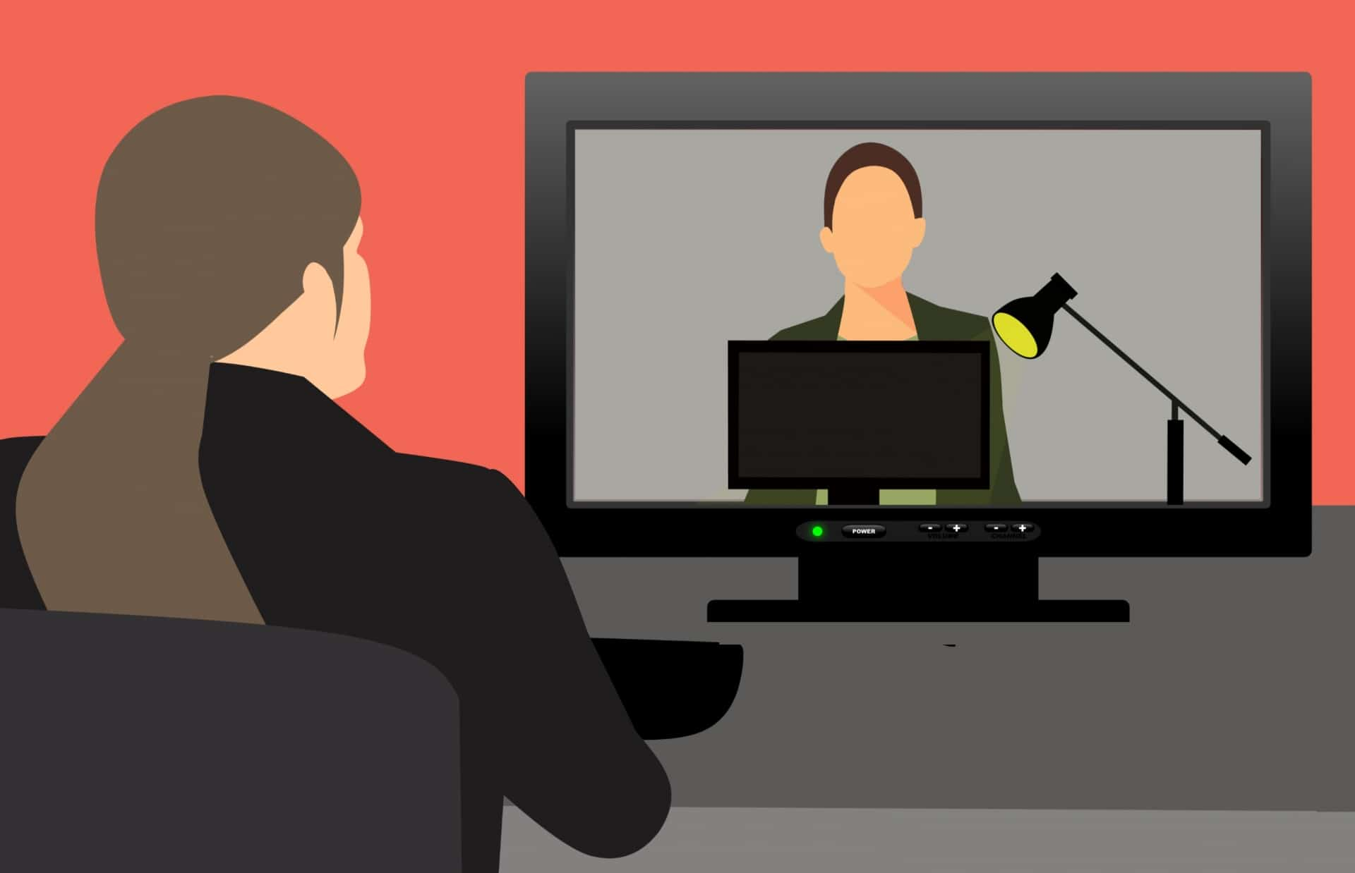 graphic depicting an online conference